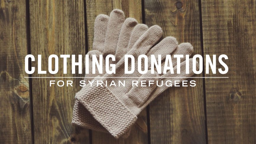 Clothing Donations for Syrian Refugees